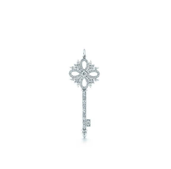 Tiffany Victoria Style Key Pendant Platinum with diamonds