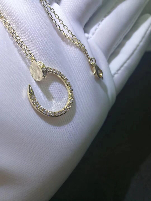 Cartier Juste un Clou necklace 18k Yellow Gold Pave Diamonds B7224511