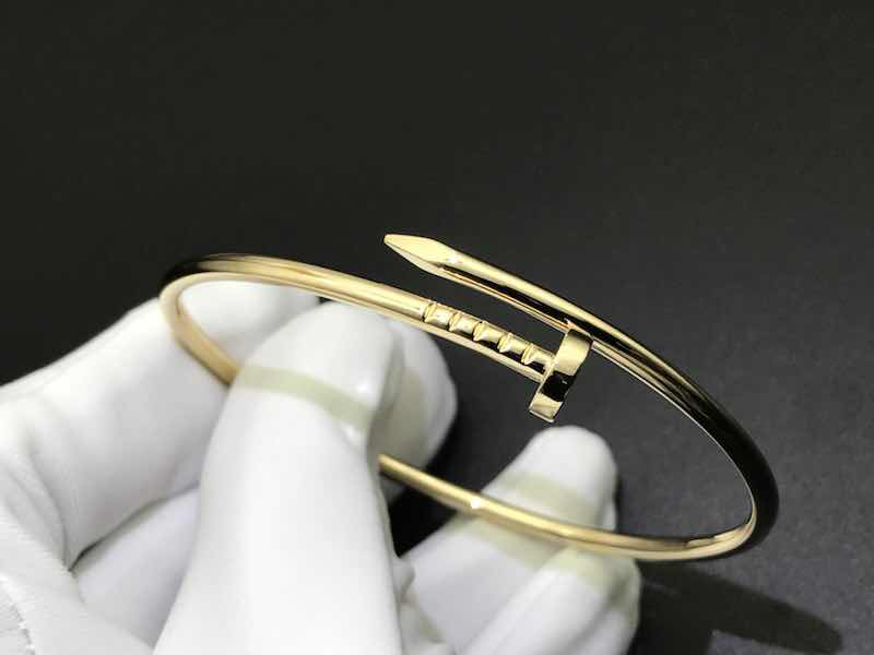 Custom Made 18k Yellow Gold Small Model Cartier Juste Un Clou bracelet