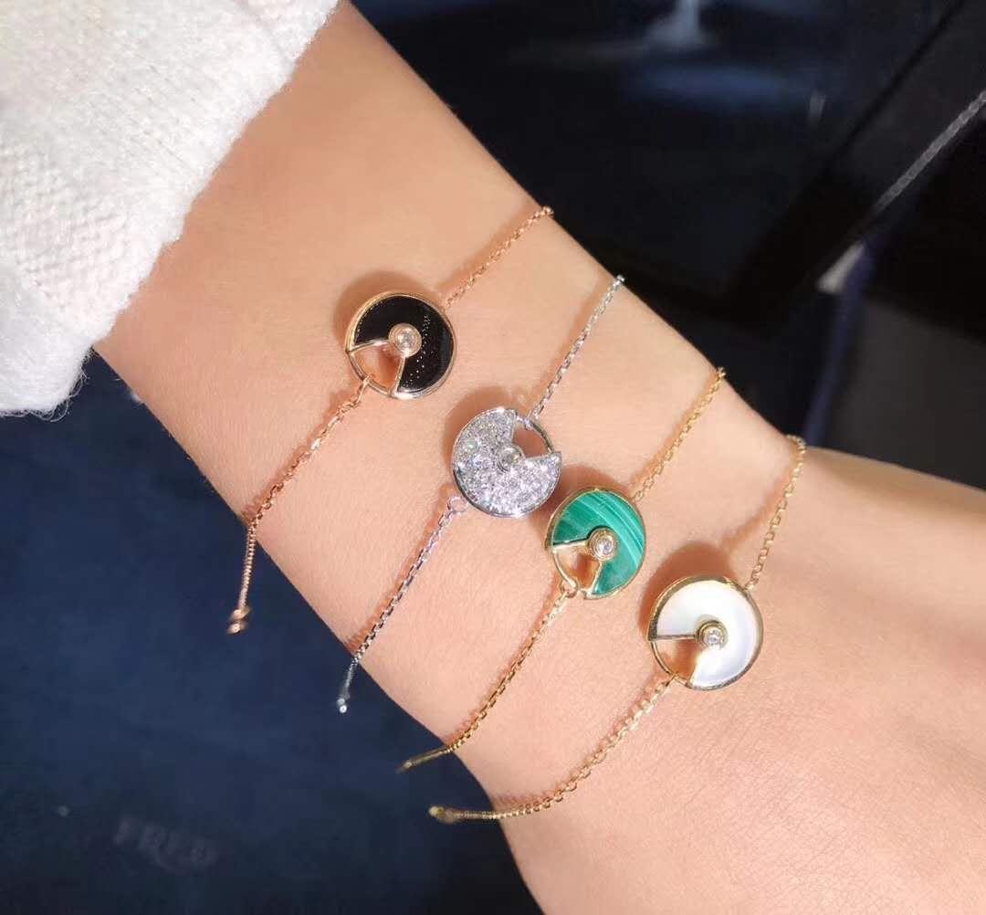 Custom Made 18K Gold Diamond Amulette de Cartier Bracelet