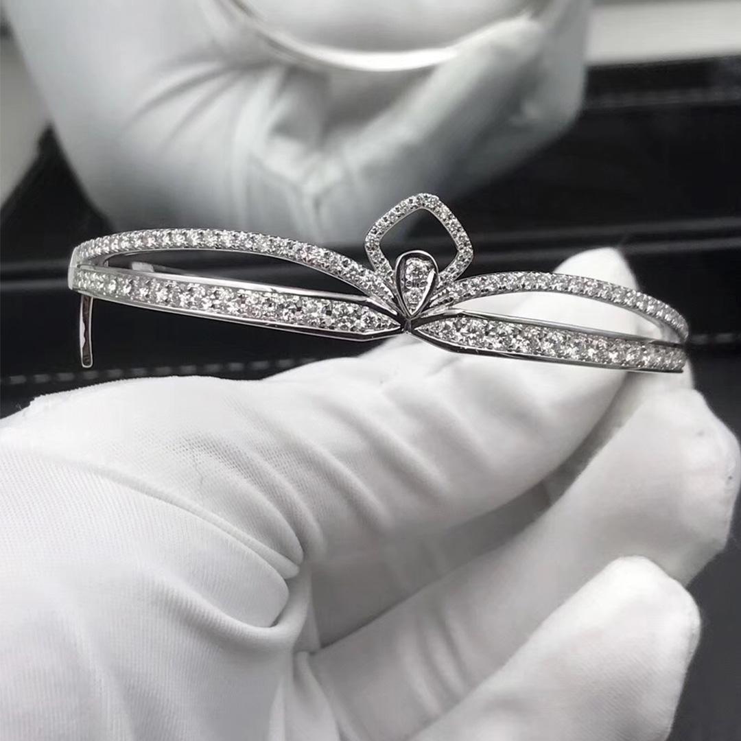 18k White Gold Chaumet Joséphine Eclat Floral Diamond Bracelet