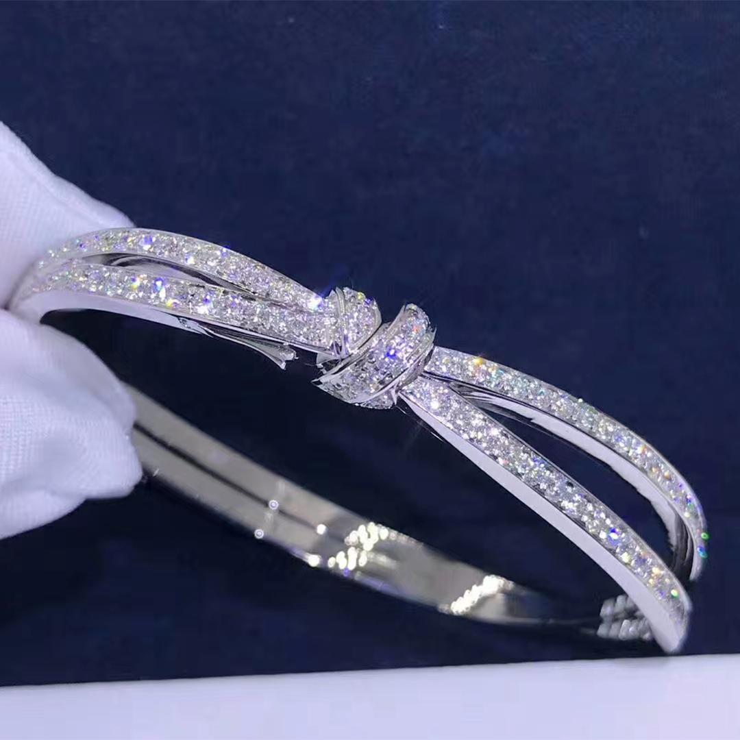 Designer Chaumet Liens Séduction white gold bracelet fully-set with diamonds