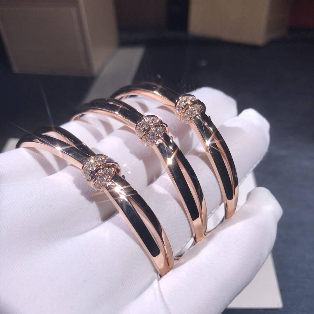 Designer Chaumet Liens Séduction white gold bracelet with diamonds on bow