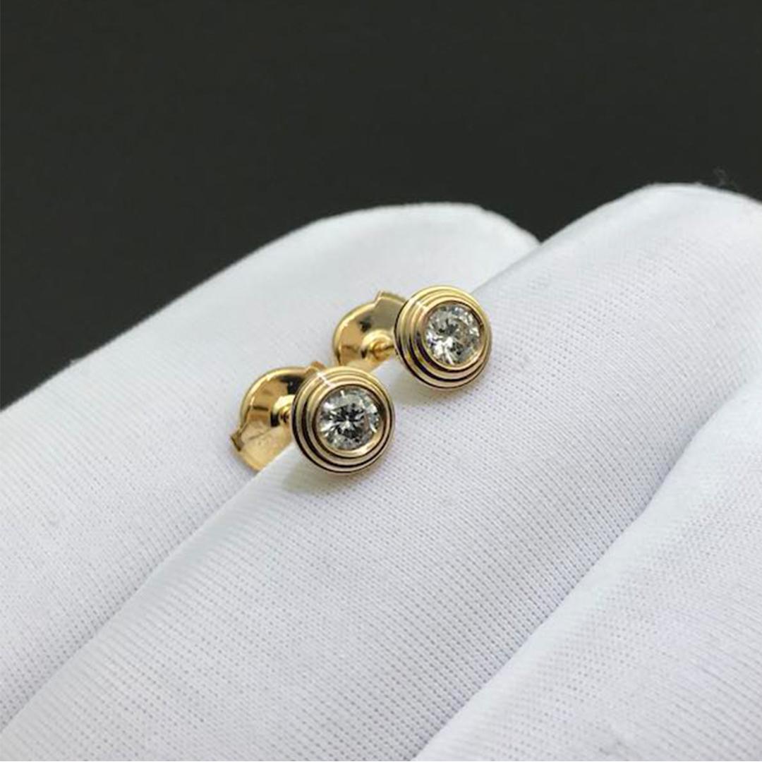 Cartier 0.18ct Diamants Légers earrings in 18k Yellow Gold